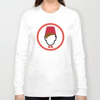fez Long Sleeve T-shirts featuring Man With Fez by Evan Ayres