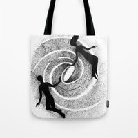 milky way Tote Bags featuring Milky Way by Aleksandra Kabakova