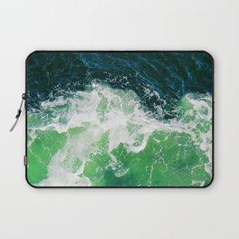Green Ocean Waves Laptop Sleeve