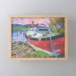 Claude's Boat Framed Mini Art Print