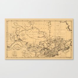 Map Of Canada 1762 Canvas Print