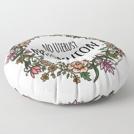 No Opinion (Wreathed) - Color Floor Pillow