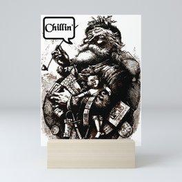 Chillin' Santa Claus Mini Art Print