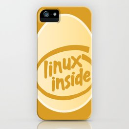 LINUX INSIDE  iPhone Case