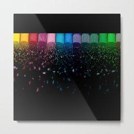 Let it Rain Color Metal Print