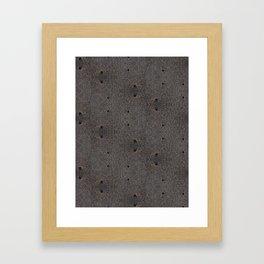 Sand Wormholes. Framed Art Print