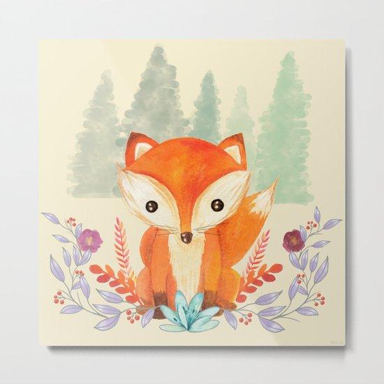 Evergreen Fox Metal Print
