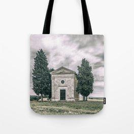 Cappella della Madonna di Vitaleta Tote Bag