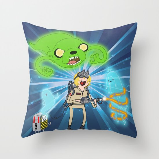 Ghostbusting Time Throw Pillow