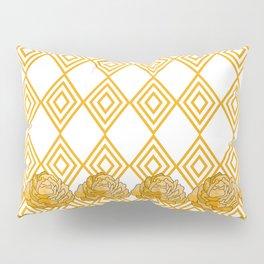 Yellow Peonies & Diamonds Pillow Sham