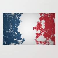 france Area & Throw Rugs featuring France by Flat Design