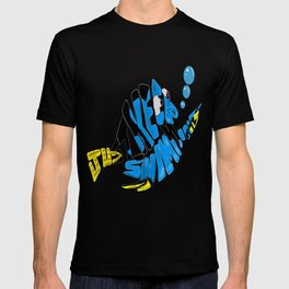 """""""just keep swimming"""" (Finding Nemo- Dory) T-shirt"""