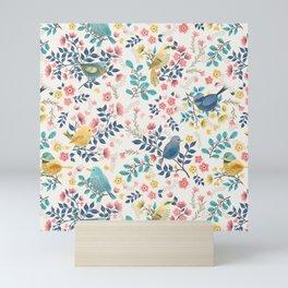 Spring Birds and Florals Mini Art Print