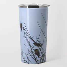 Winter Birds on Bare Branches Travel Mug