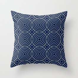 Mediterranean Circles Seamless Pattern Throw Pillow