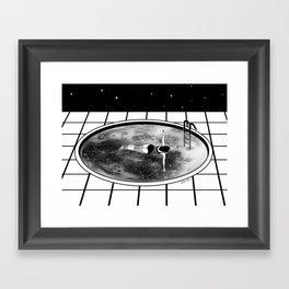 Pool Moon Framed Art Print