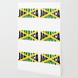 Jamaica Font with Jamaican Flag Wallpaper