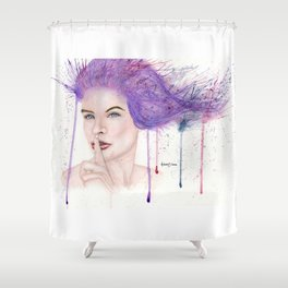 Shhh Shower Curtain