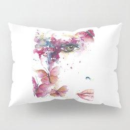 Girl with Purple Butterflies Pillow Sham