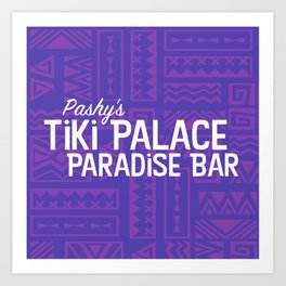 Pashy's Tiki Palace Purple Art Print