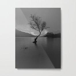 lonely tree thunder storm Metal Print