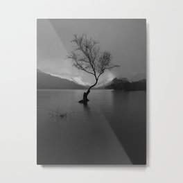 lonely tree thunder storm Metal Print