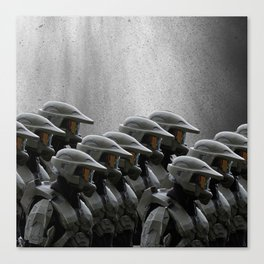 The Halo Army Canvas Print
