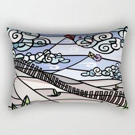 Flying Kites on the Beach Rectangular Pillow