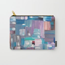 Colorful Rectangles. Acrylic Abstract Painting.  Carry-All Pouch