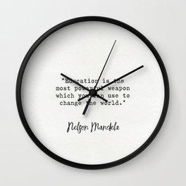 Nelson Mandela quote Wall Clock