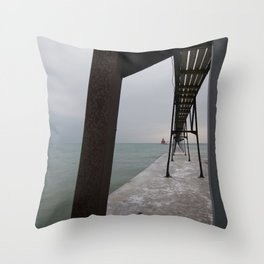 Canal Station Throw Pillow