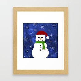 Holiday Snowman Framed Art Print