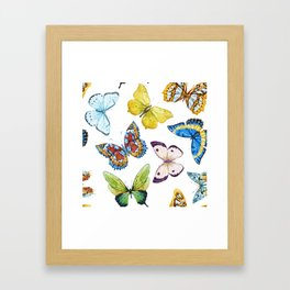 Butterfly Pattern 01 Framed Art Print