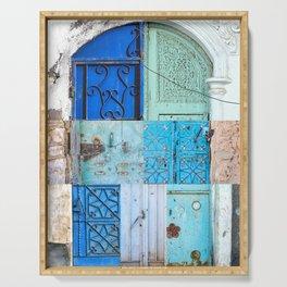 Blue Door Puzzle Serving Tray