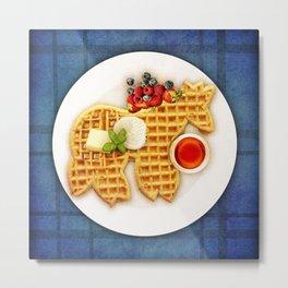 Waffle Unicorn Metal Print