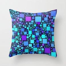 Post It Blue Throw Pillow
