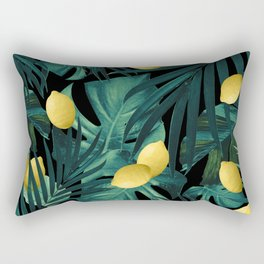 Tropical Lemon Twist Jungle Night #1 #tropical #decor #art #society6 Rectangular Pillow