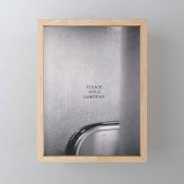 Toronto - Please Hold Handrail Framed Mini Art Print