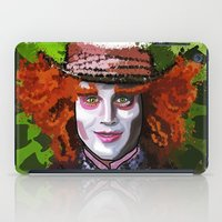mad hatter iPad Cases featuring Mad Hatter by grapeloverarts