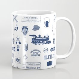 Railroad Symbols // Navy Blue Coffee Mug