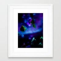 goldfish Framed Art Prints featuring goldfish by noirblanc777