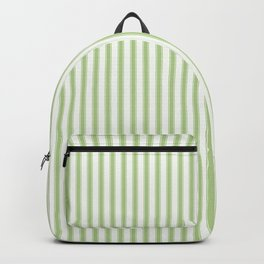 Color of the Year 2017 Greenery and White Mattress Ticking Stripes Backpack