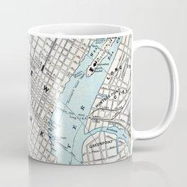 Vintage Map of New York Coffee Mug