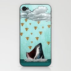 Pizza Shark Print iPhone & iPod Skin