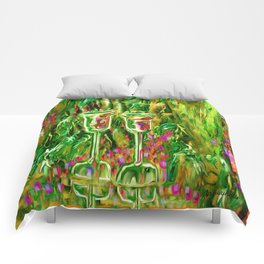 Wine glass with grapes,ladykashmir Comforters