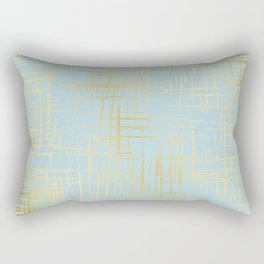 Crosshatch Light Blue Rectangular Pillow