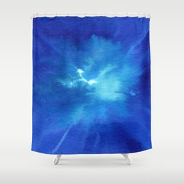 Blue Powder Shower Curtain