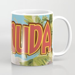 BERMUDA vintage vacation travel poster Coffee Mug