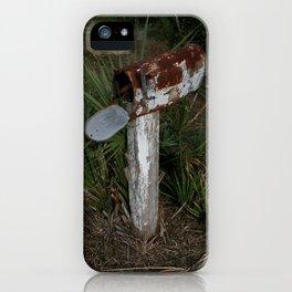 Rusty Mailbox DPG160301a iPhone Case