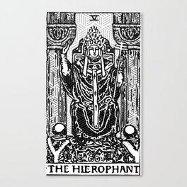 Geometric Tarot Print - The Hierophant Canvas Print